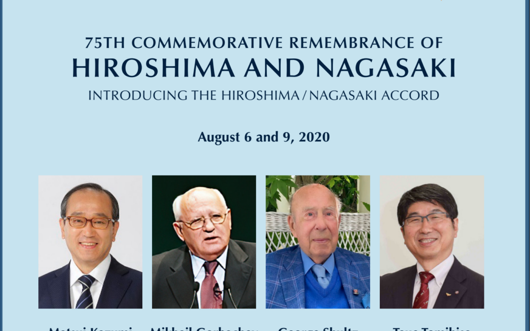 A Special Interfaith Online Event to mark the Hiroshima/Nagasaki Accord